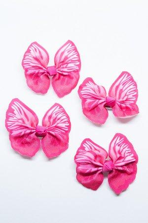 XTS Butterfly Hair Pin 4pcs Set (Pink)