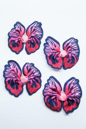 XTS Butterfly Hair Pin 4pcs Set (Red)