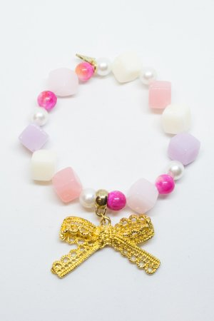 XTS Ribbon Candy Bracelet (Pink/Gold)