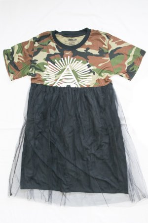 Original Mini Tulle Skirt Dress (Camo)