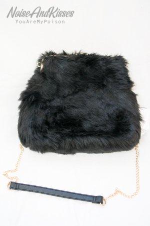 Fur Body 2way Shoulder Bag (Black)