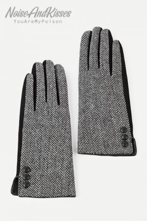Geometric Pattern Gloves (Gray)