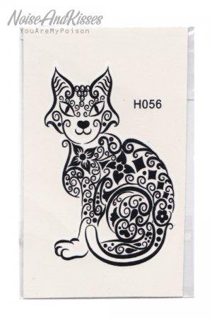 Tattoo Sticker Sheet (Tattoo Cat)