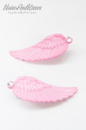 XTS Twin Wings Hair Pin Set (Light Pink)