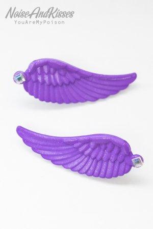 XTS Twin Wings Hair Pin Set (Purple)