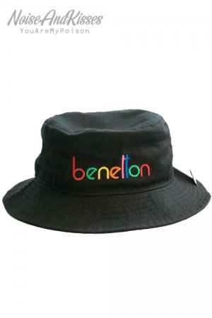 BENETTON Multi Color Bucket Hat (Black)