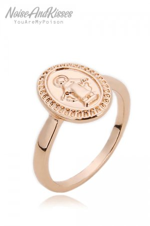 Guadalupe Angel Medal Point Ring (Rose Gold)