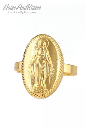 Guadalupe Medal Ring (Gold)