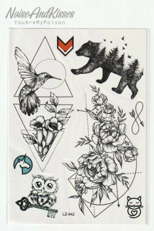Tattoo Sticker Sheet (Bear)