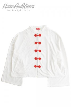 <img class='new_mark_img1' src='https://img.shop-pro.jp/img/new/icons8.gif' style='border:none;display:inline;margin:0px;padding:0px;width:auto;' />ACDC RAG China Zipper Blouson Top (White)