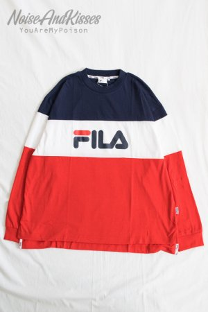 FILA COLOR BLOCK L/S TEE (NAVE/RED)
