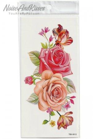 Tattoo Sticker Sheet (Pastel Rose)