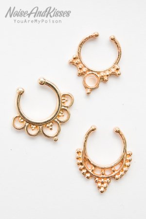 <img class='new_mark_img1' src='https://img.shop-pro.jp/img/new/icons8.gif' style='border:none;display:inline;margin:0px;padding:0px;width:auto;' />Fake Septum Set (Gold) F