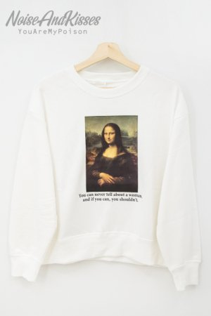 <img class='new_mark_img1' src='https://img.shop-pro.jp/img/new/icons20.gif' style='border:none;display:inline;margin:0px;padding:0px;width:auto;' />Legend Art Print Sweatshirt -Mona Lisa- (White)