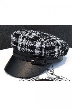 Winter Plaid Hat (Black)