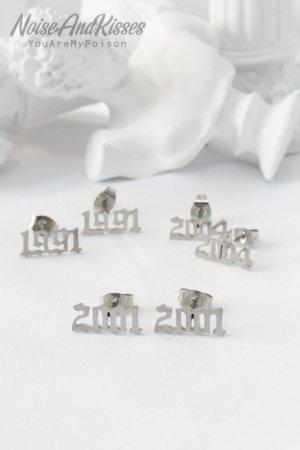 Birth Year Logo Stainless Pierce (Silver)