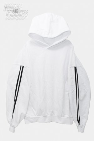 <img class='new_mark_img1' src='https://img.shop-pro.jp/img/new/icons8.gif' style='border:none;display:inline;margin:0px;padding:0px;width:auto;' />Drop Shoulder Side Line Hoodie (White)