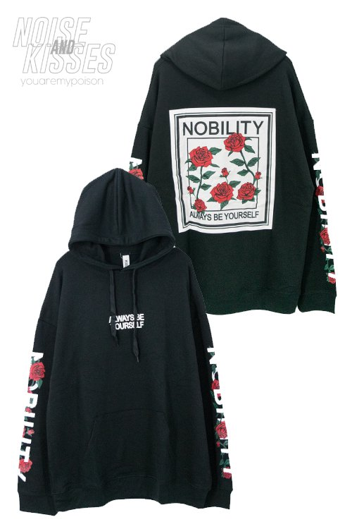 <img class='new_mark_img1' src='https://img.shop-pro.jp/img/new/icons56.gif' style='border:none;display:inline;margin:0px;padding:0px;width:auto;' />Rose Back Patch Mens Hoodie (Black)