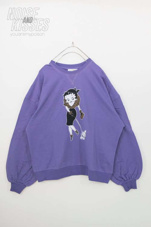 <img class='new_mark_img1' src='https://img.shop-pro.jp/img/new/icons56.gif' style='border:none;display:inline;margin:0px;padding:0px;width:auto;' />BETTY BOOP Printed Sweatshirt (Lavender)