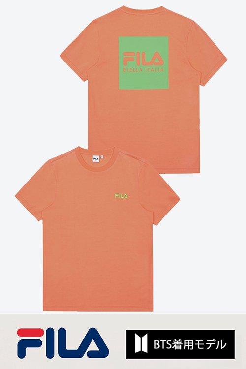 <img class='new_mark_img1' src='https://img.shop-pro.jp/img/new/icons8.gif' style='border:none;display:inline;margin:0px;padding:0px;width:auto;' />FILA BTS着用モデル Tシャツ (Orange)