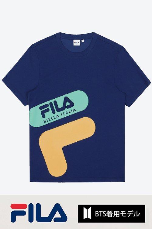 FILA BTS着用モデル Tシャツ (Navy)