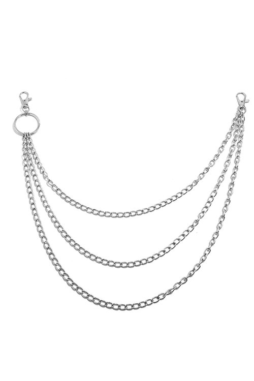 <img class='new_mark_img1' src='https://img.shop-pro.jp/img/new/icons8.gif' style='border:none;display:inline;margin:0px;padding:0px;width:auto;' />Triple Waist Chain (Silver)