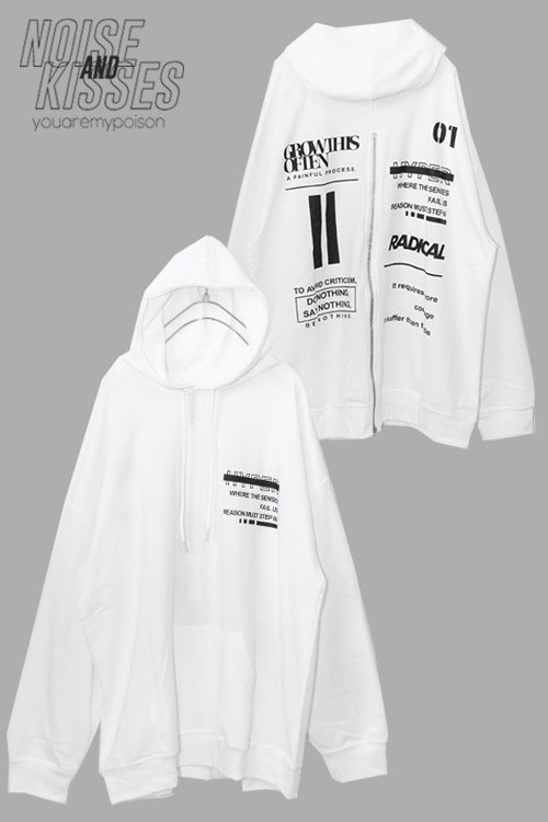 <img class='new_mark_img1' src='https://img.shop-pro.jp/img/new/icons8.gif' style='border:none;display:inline;margin:0px;padding:0px;width:auto;' />Back Zipper Logo Mens Hoodie (White)