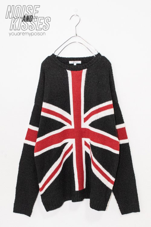 <img class='new_mark_img1' src='https://img.shop-pro.jp/img/new/icons8.gif' style='border:none;display:inline;margin:0px;padding:0px;width:auto;' />Union Jack Mens Knit Top (Black)
