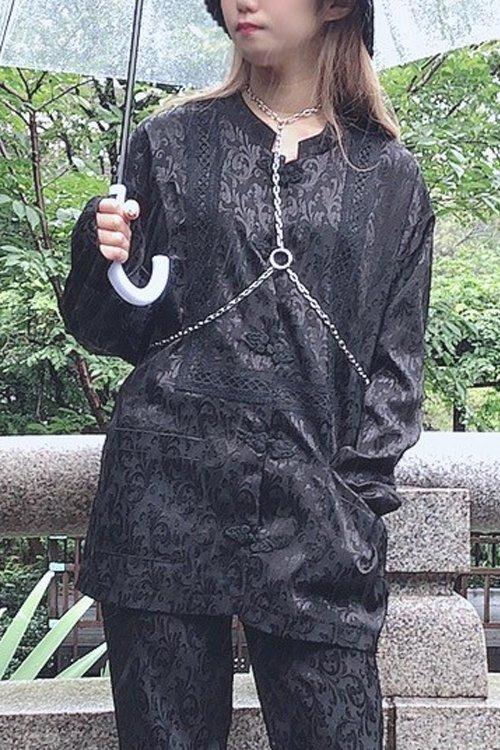 チャイナビッグシャツ (Black)