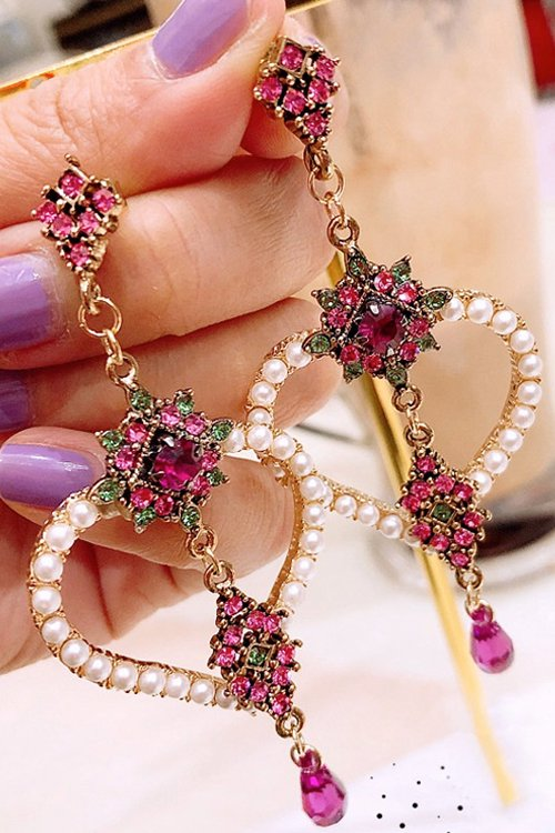 <img class='new_mark_img1' src='https://img.shop-pro.jp/img/new/icons8.gif' style='border:none;display:inline;margin:0px;padding:0px;width:auto;' />Heart Pearl Elegant Pierce (Pink)