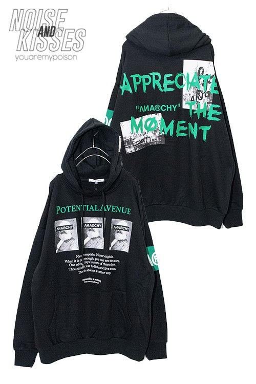 <img class='new_mark_img1' src='https://img.shop-pro.jp/img/new/icons8.gif' style='border:none;display:inline;margin:0px;padding:0px;width:auto;' />ANARCHY Decoration Pullover Hoodie (Black)
