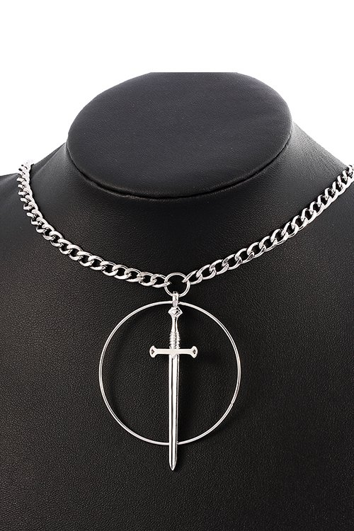 <img class='new_mark_img1' src='https://img.shop-pro.jp/img/new/icons8.gif' style='border:none;display:inline;margin:0px;padding:0px;width:auto;' />Circle Sword Necklace (Silver)