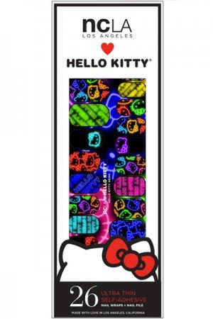 ncLA NAIL WRAPS HELLO KITTY Neon