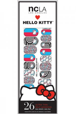 ncLA NAIL WRAPS 3-D HELLO KITTY