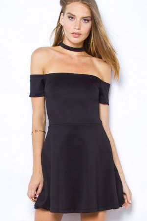 "EVIL TWIN ""BARE IT ALL"" CHOKER DRESS"