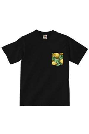 Lovebite Clothing Pocket Tee Pineapple BLK