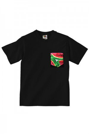 Lovebite Clothing Pocket Tee Watermelon BLK