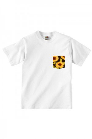 Lovebite Clothing Pocket Tee Sun Flower (White)