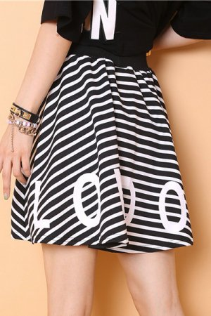 Logo Star Border Mini Skirt