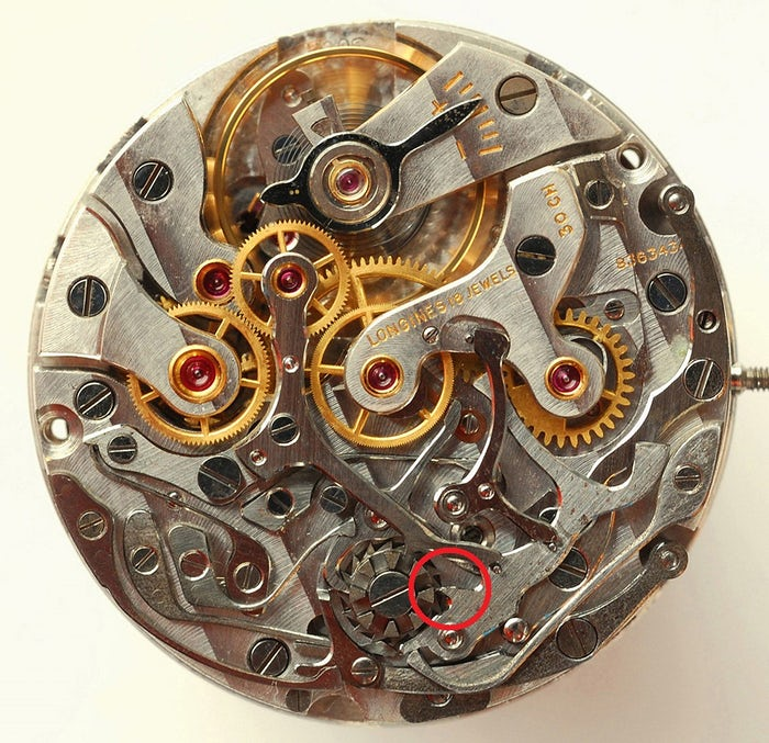 Longines 30CH without flyback mechanism