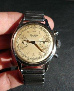 ヴィンテージ ブライトリング ステンレススチール クロノグラフ腕時計  Ref.790 ミリタリー  1940年代
