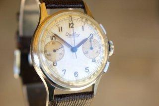 1945年 ヴィンテージ ブライトリング・プレミエ789 クロノグラフ腕時計 調整済み ヴィーナスムーブメント 中古