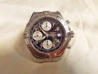 ヴィンテージ ブライトリング クロノグラフ 3レジスター A13035.1  オートマチック腕時計