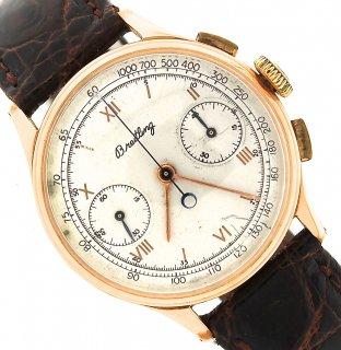 ヴィンテージ 男性用腕時計 ブライトリング クロノグラフ 18Kローズゴールド