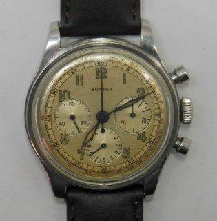 クロノグラフ腕時計 男性用ビンテージ レマニアムーブメント クロノグラフ スッター 腕時計 現品限り