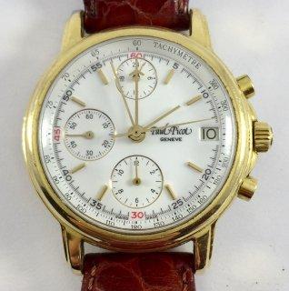 クロノグラフ腕時計 ビンテージ 男性用 ポールピコ・ジュネーブ・クロノグラフ 自動巻 レマニア5100