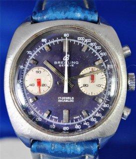 ヴィンテージ 1970年代 ブライトリング ジュネーヴ クロノグラフ 17ジュエル インカブロック 手巻き式