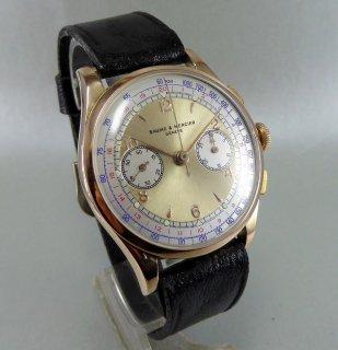 ボーム&メルシエ 18K クロノグラフ腕時計