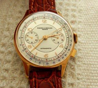 ビンテージ ボーム&メルシエ クロノグラフ腕時計