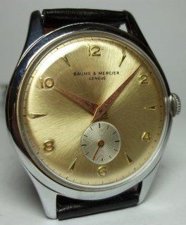 ボーム&メルシエ 男性用手巻き式腕時計 ツートーンダイアル